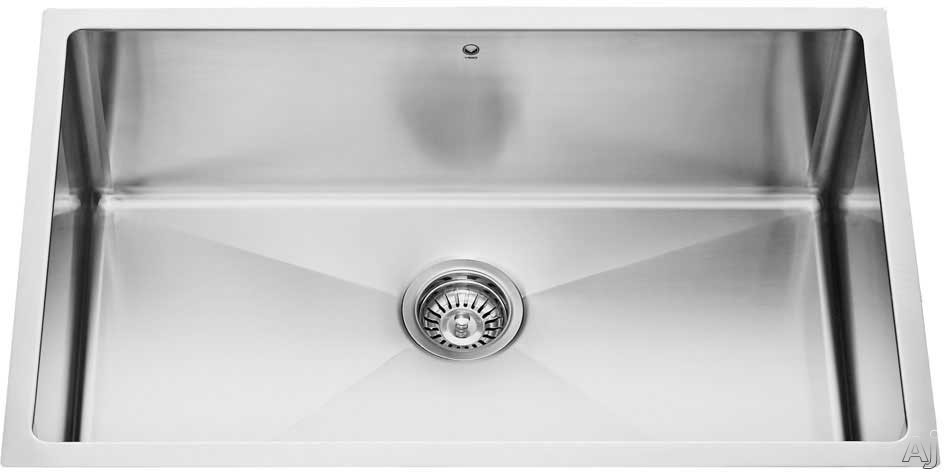 Vigo Industries Platinum Collection VG15022 30 Inch Undermount Single Bowl Stainless Steel Sink Combo with 9 7 8 Inch Bowl Depth 16 Gauge Pull Down Faucet Soap Dispenser and Strainer