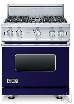 "Viking 5 Series VGIC53014BCB 30 Inch Pro-Style Gas Range with ProFlowâ""¢ Convection, VariSimmerâ""¢, SureSparkâ""¢, Gourmet-Gloâ""¢ Broiler, 6 Rack Positions, 4 Open Elements, Star-K Cert"