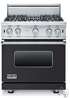 Viking 5 Series VGIC53014BGG 30 Inch Pro-Style Gas Range with ProFlowâ ¢ Convection, VariSimmerâ ¢, SureSparkâ ¢, Gourmet-Gloâ ¢ Broiler, 6 Rack Positions, 4 Open Elements, 4.0 cu. ft. Oven Capacity, Oven Lights and Removable Door: Gr