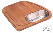 Franke Vision Series VN45SP Solid Wood Cutting Board with Polished Stainless Colander