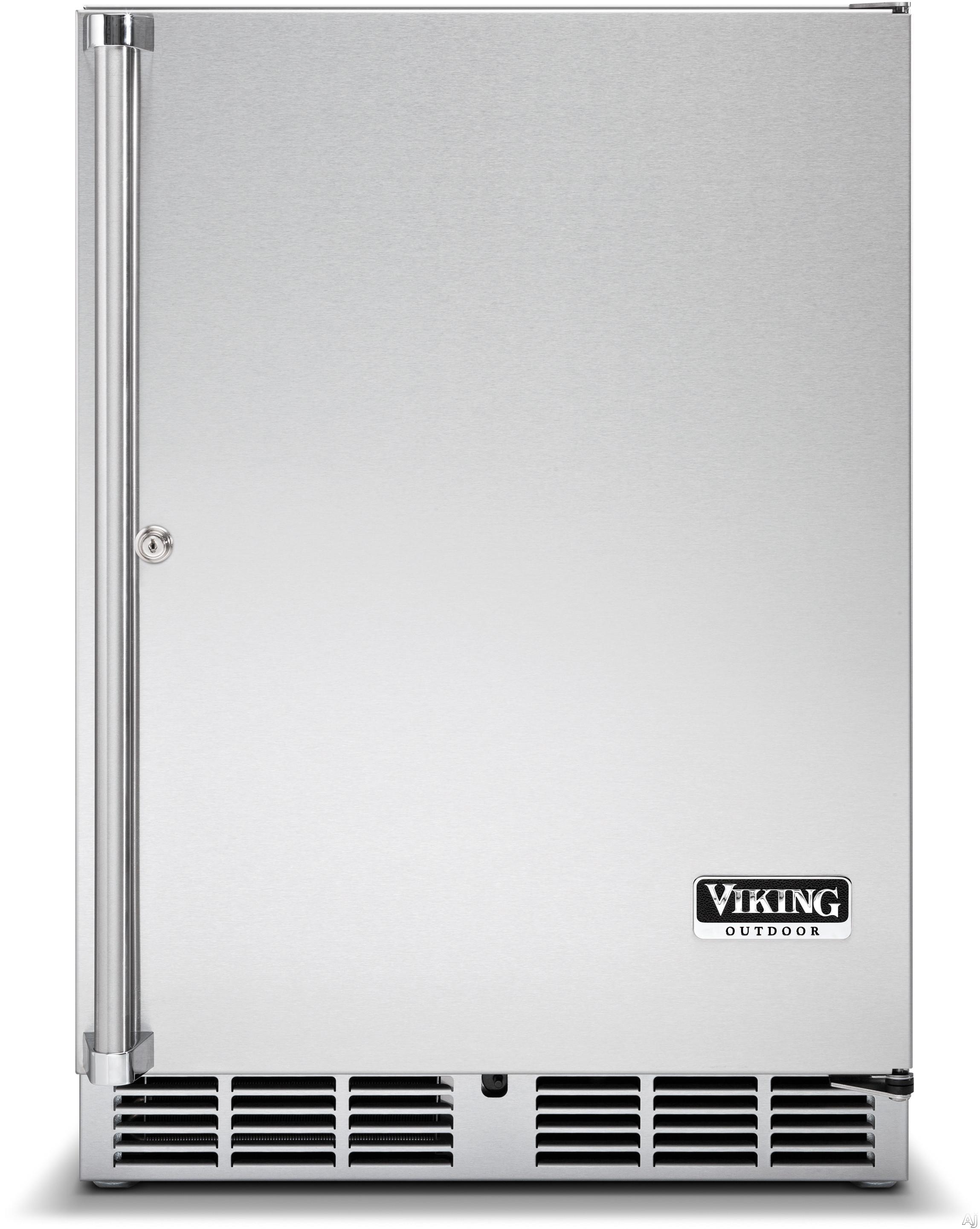 "Viking Outdoor Series VRCO5240DXSS 24"" Undercounter Outdoor Refrigerator with 5.3 cu. ft. Capacity, 2 Full Extension Wire Shelves, Door Lock, 108 12-oz. Can Capacity and LED Display Lighting"