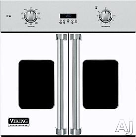 Viking Professional 7 Series VSOF730WH 30 Inch Single French Door Wall Oven with 4.7 cu. ft. Vari-Speed Dual Flow TruConvec Cooking Capacity, Gourmet-Glo Glass Enclosed Infrared Broiler, Rapid Ready P