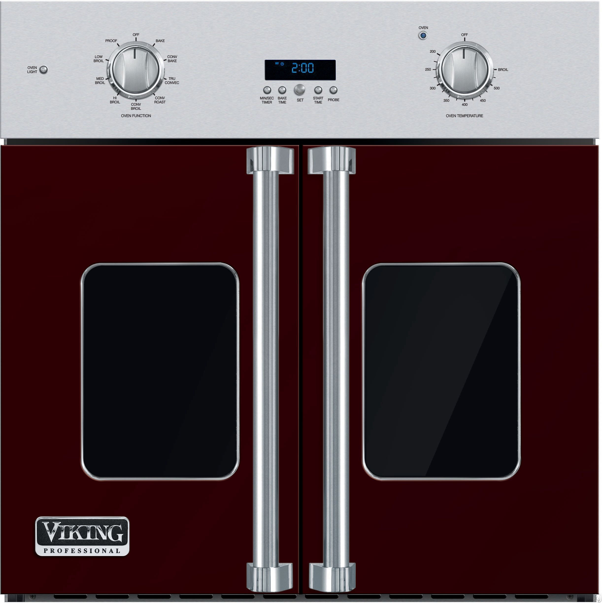 Viking Professional 7 Series VSOF730BU 30 Inch Single French Door Wall Oven with 4.7 cu. ft. Vari-Speed Dual Flow TruConvec Cooking Capacity, Gourmet-Glo Glass Enclosed Infrared Broiler, Rapid Ready P