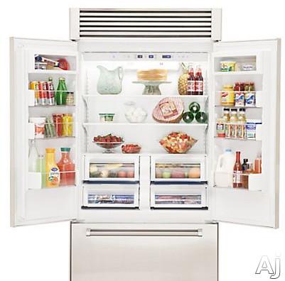 Viking Vtb5420ss 42 Inch Built In French Door Refrigerator