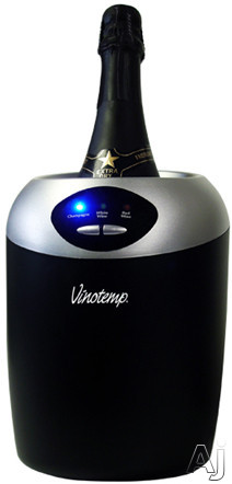 Picture of Vinotemp VTCHILLERCHA 7 Inch Tabletop Thermoelectric Champagne Chiller with 3 Temperature Settings Easy to Read LED Lights and AC Power Supply