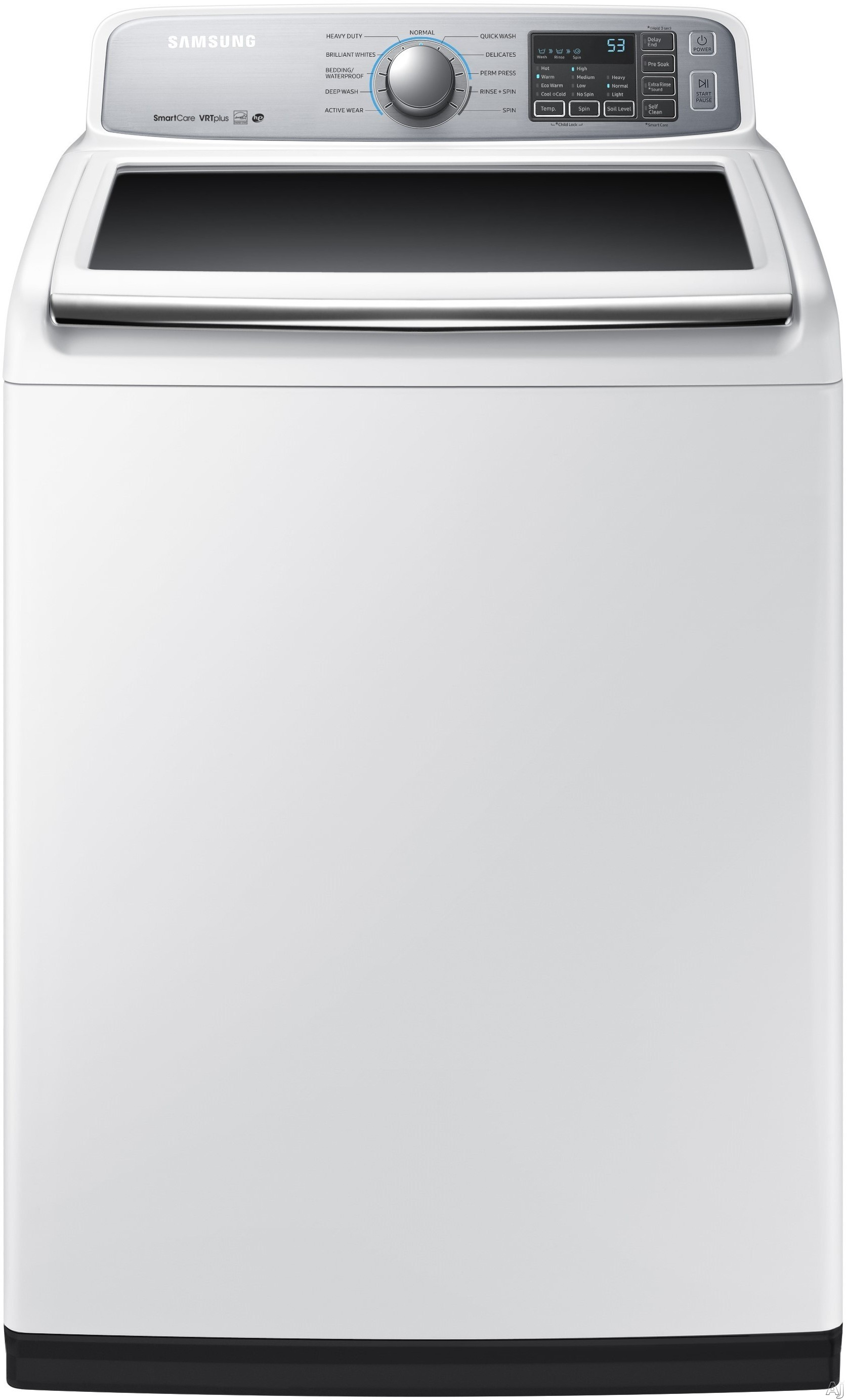 "White Top Load Laundry Pair with WA50M7450AW 27"""" Washer (5.0 cu. ft. Capacity) and DVE50M7450W 27"""" Electric Dryer (7.4 cu. ft."" 794101"