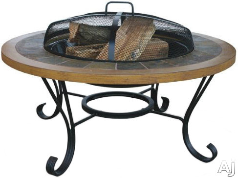 Image of Blue Rhino WAD1358SP Outdoor Firebowl Wood Burning Fire Pit with In-Table Design and Included Insert Cover