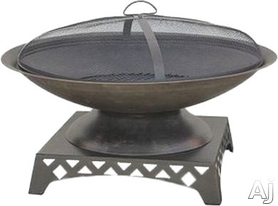 Blue Rhino WAD1410SP Outdoor Firebowl Wood Burning Fire Pit with Basin Design in Oil Rubbed Bronze