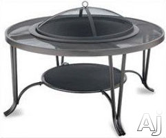 Blue Rhino WAD1411SP Outdoor Firebowl Wood Burning Fire Pit with In-Table Design in Steel Mesh
