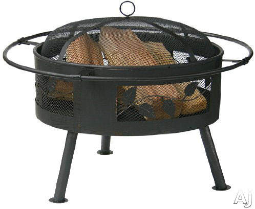 Blue Rhino WAD992SP Outdoor Firebowl Wood Burning Fire Pit with Leaf Design in Aged Bronze