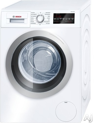 Bosch 500 Series WAT28401UC 24 Inch Front Load Washer with Sensor Wash, Quick Wash, AquaShield, Snag-Free Drum, Sanitize Cycle, 15 Total Cycles, 2.2 cu. ft. Capacity, 1,400 RPM, Stackable Design, ADA Compliant and ENERGY STAR WAT28401UC