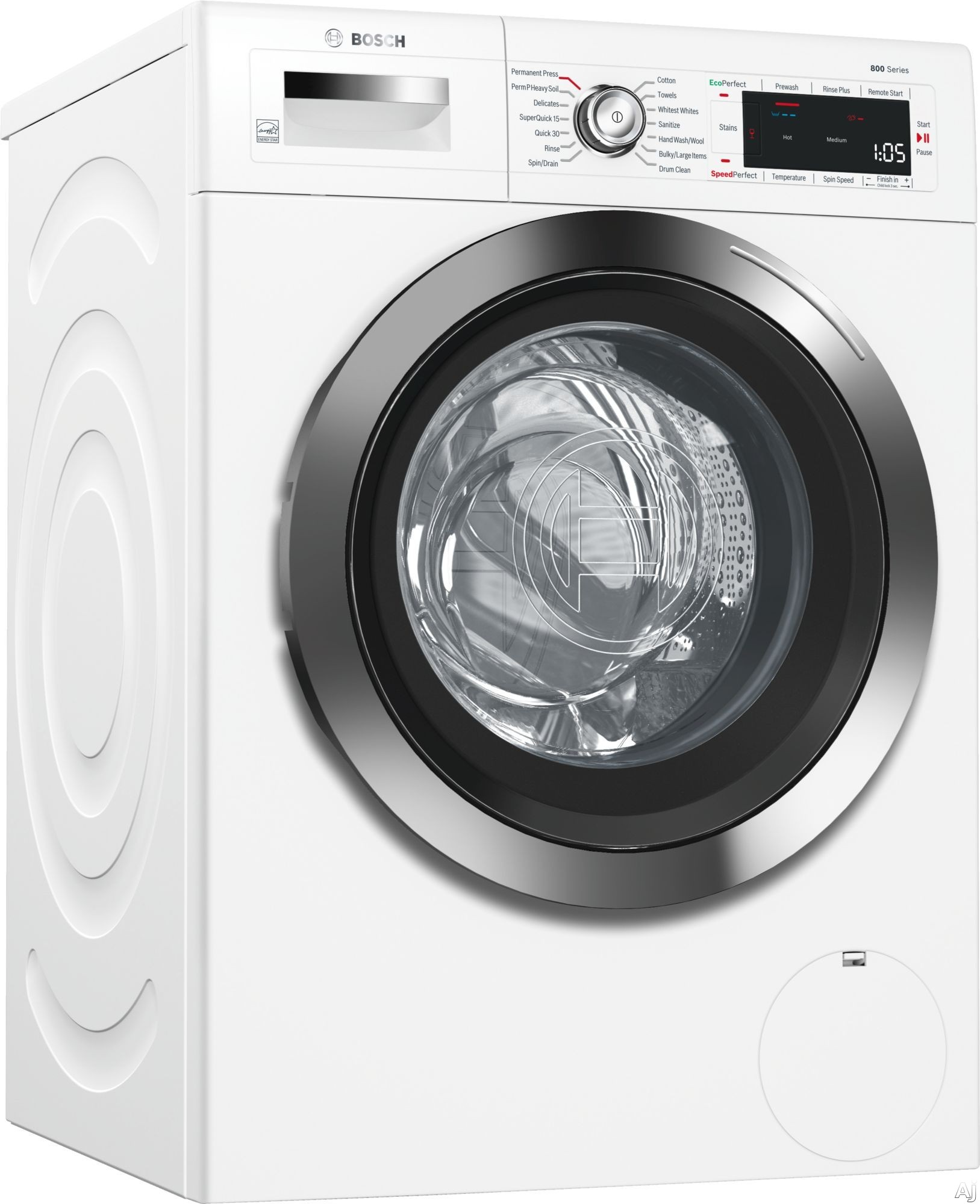 Bosch 800 Series WAW285H2UC 24 Inch Compact Washer with Home Connect, SpeedPerfect™, AquaStop® Plus, EcoSilence Motor™, 14 Wash Cycles, 10 Wash Options, ADA Compliant, ENERGY STAR® Rated and 2.2 cu. ft. Capacity WAW285H2UC