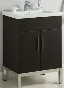 Empire Industries Daytona Collection DK3522BWSL 35 Inch Contemporary Freestanding Vanity with One Two Door Cabinet, Two Left Side Drawers and Kira Sinktop Compatible: Blackwood, Satin Finish