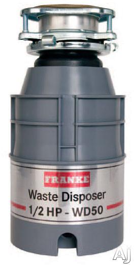 Franke WD50 1/2 HP Continuous Feed Waste Disposer with 2600 RPM Magnet Motor, Jam Resistant and 5 Year Warranty