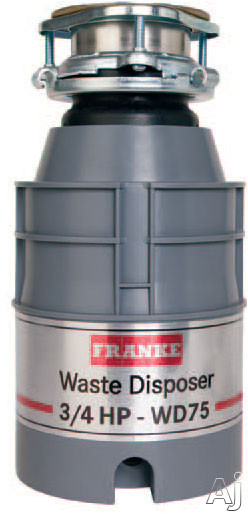Franke WD75 3/4 HP Continuous Feed Waste Disposer with 2600 RPM Magnet Motor, Jam Resistant and 5 Year Warranty