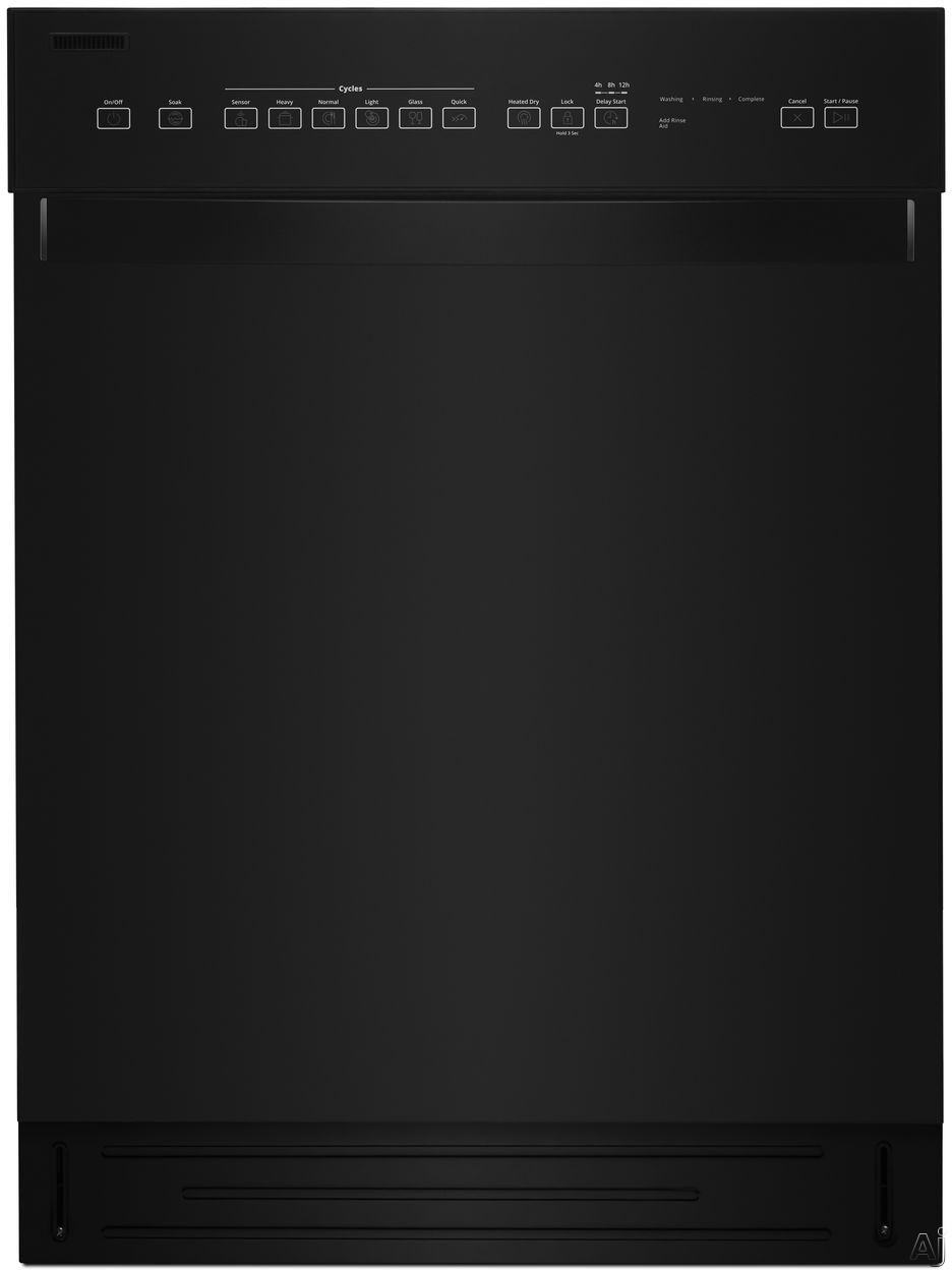 Whirlpool WDF550SAHB Full Console Dishwasher with Cycle Memory, Adjustable Upper Rack, Sensor Wash, Heated Dry, Control Lock, Glass Cycle, Dual Spray Arm, Tap Touch Controls, Stainless Steel Tub, 51 d