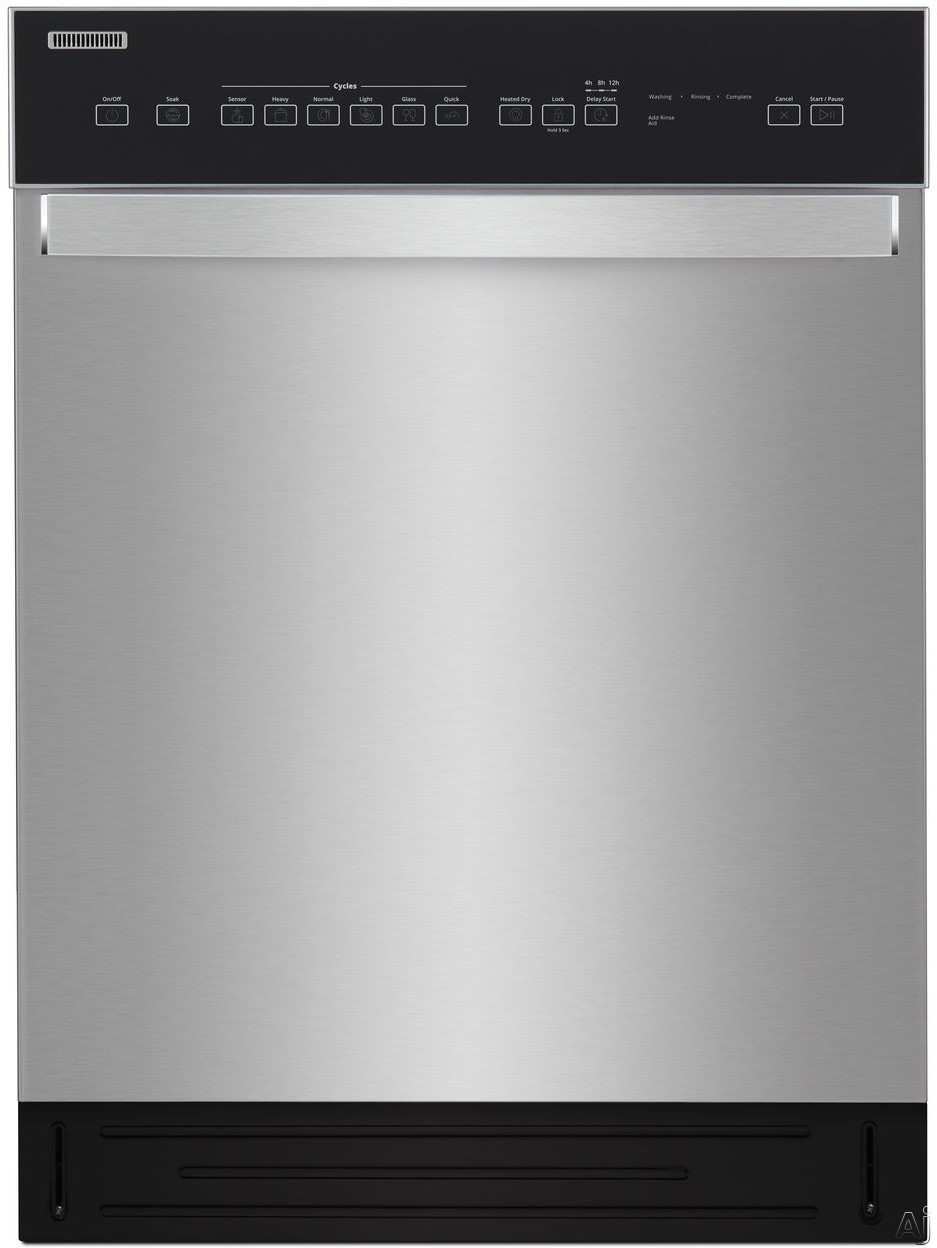 Whirlpool WDF550SAHS Full Console Dishwasher with Cycle Memory, Adjustable Upper Rack, Sensor Wash, Heated Dry, Control Lock, Glass Cycle, Dual Spray Arm, Tap Touch Controls, Stainless Steel Tub, 51 d