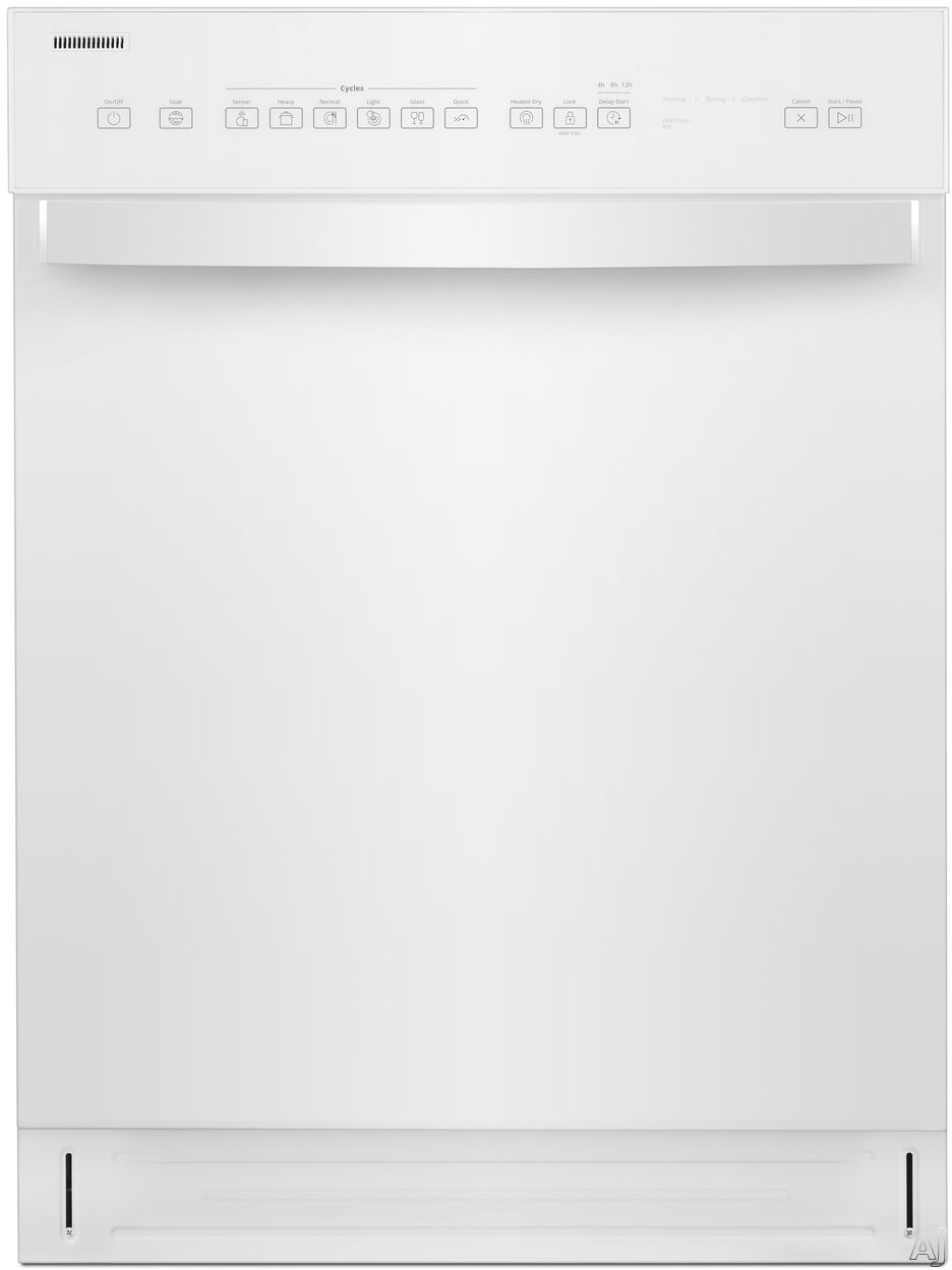 Whirlpool WDF550SAHW Full Console Dishwasher with Cycle Memory, Adjustable Upper Rack, Sensor Wash, Heated Dry, Control Lock, Glass Cycle, Dual Spray Arm, Tap Touch Controls, Stainless Steel Tub, 51 d