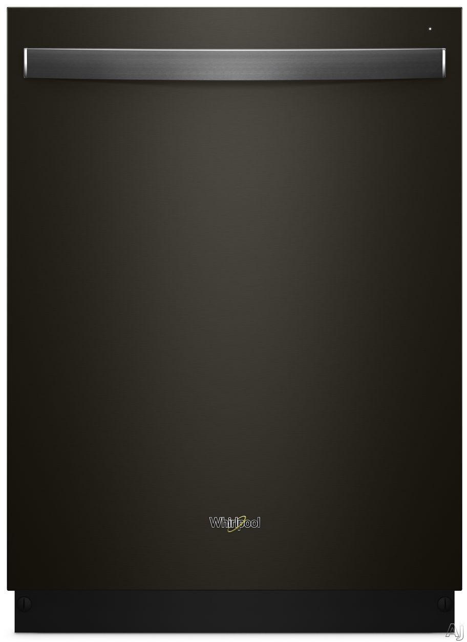 Picture of Whirlpool WDT730PAHV Fully Integrated Dishwasher with Sensor Cycle Fan Dry Adjustable Upper Rack Sani Rinse Option 1-Hour Wash Cycle Memory Hi-Temp Wash Heated Dry Cycle Status Indicator and 15 Place Settings Black Stainless Steel