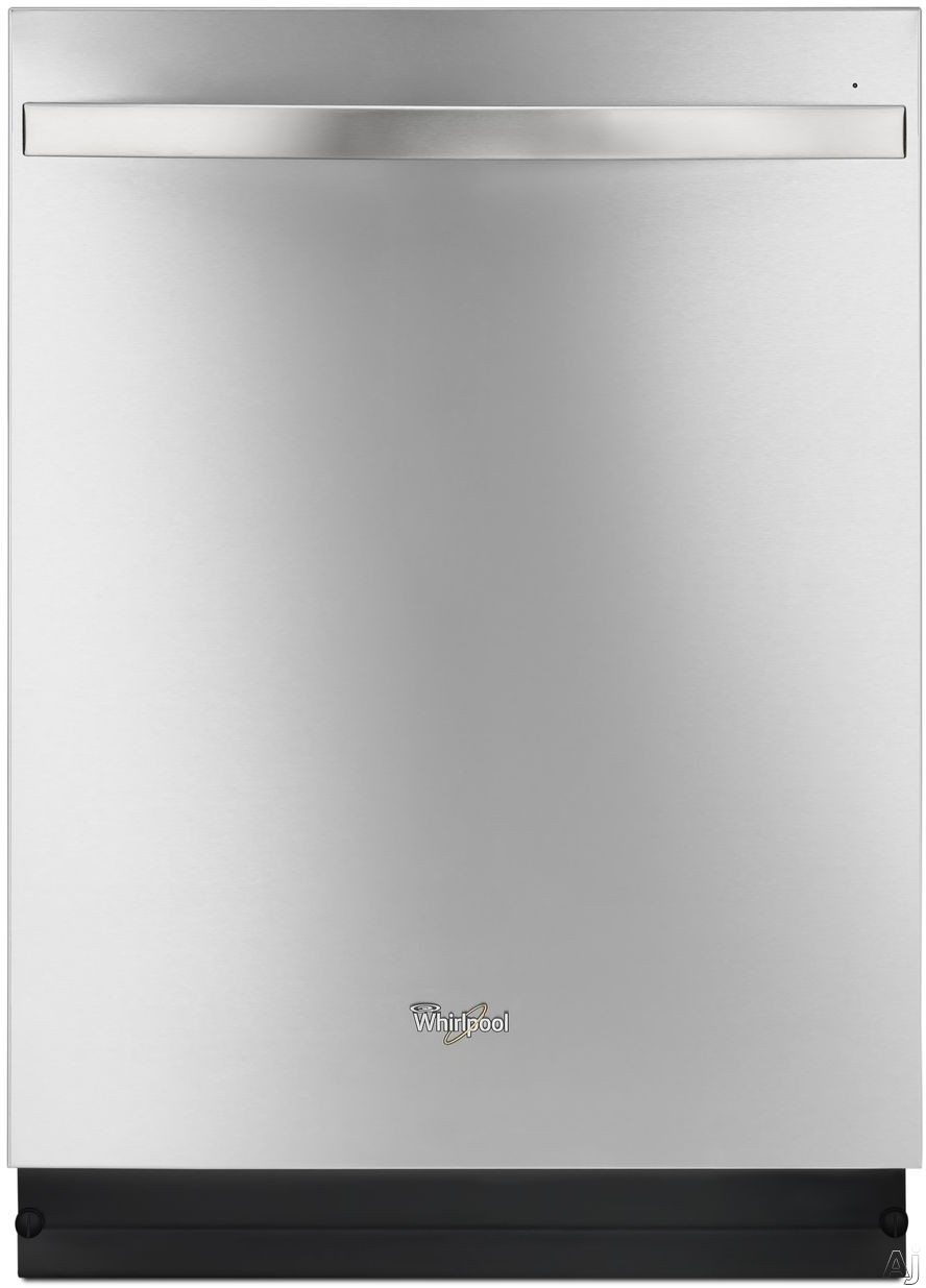 Picture of Whirlpool WDT780SAEM Fully Integrated Dishwasher with 5 Wash Cycles Sensor Wash Adjustable Upper Rack In-Door Silverware Basket Sani Rinse and End-of-Cycle Indicator Light