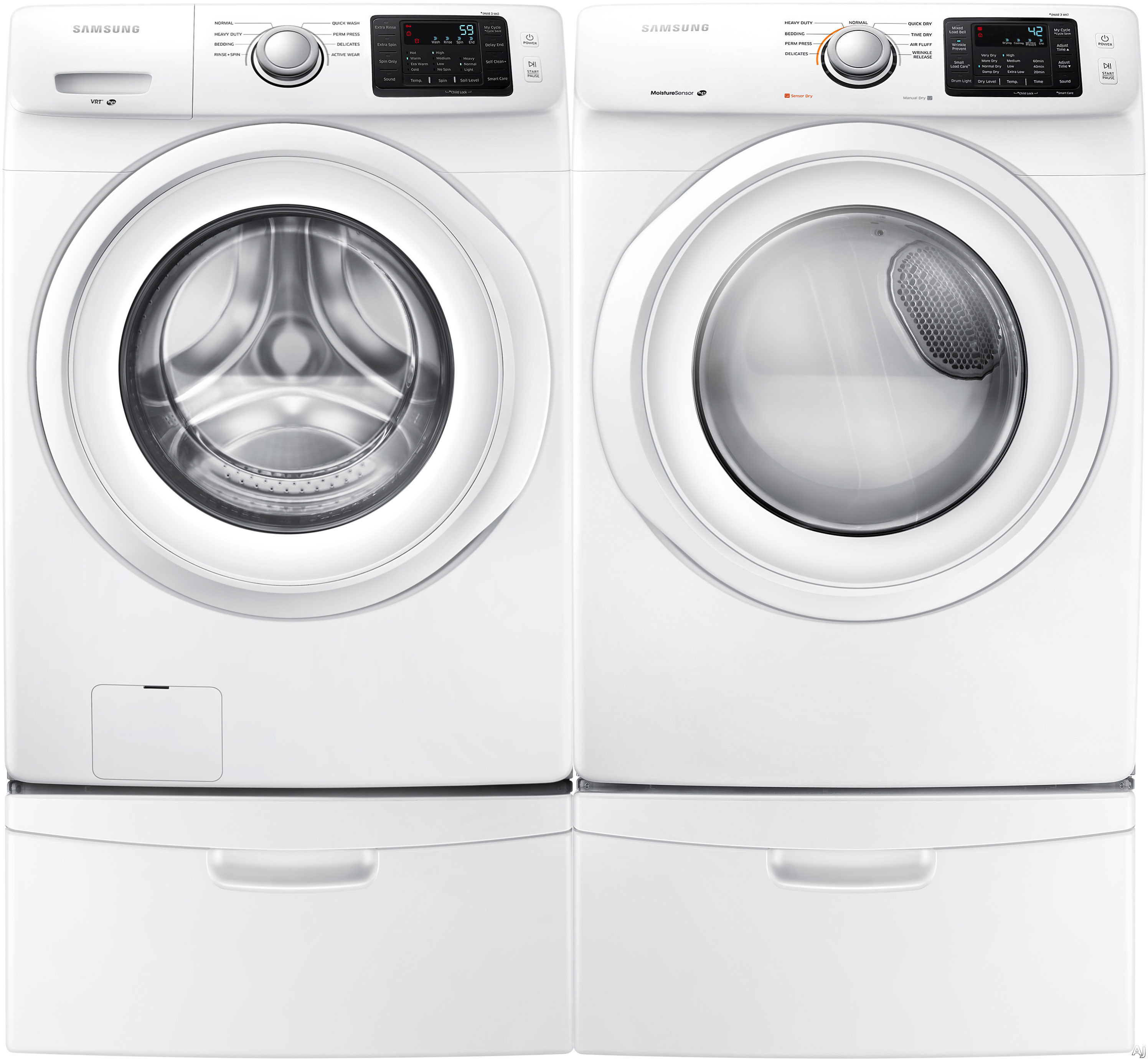 Washer And Dryer Dimensions Front Loading Samsung Sam5000fl Samsung 5000 Series Front Load Washer Dryer Pair