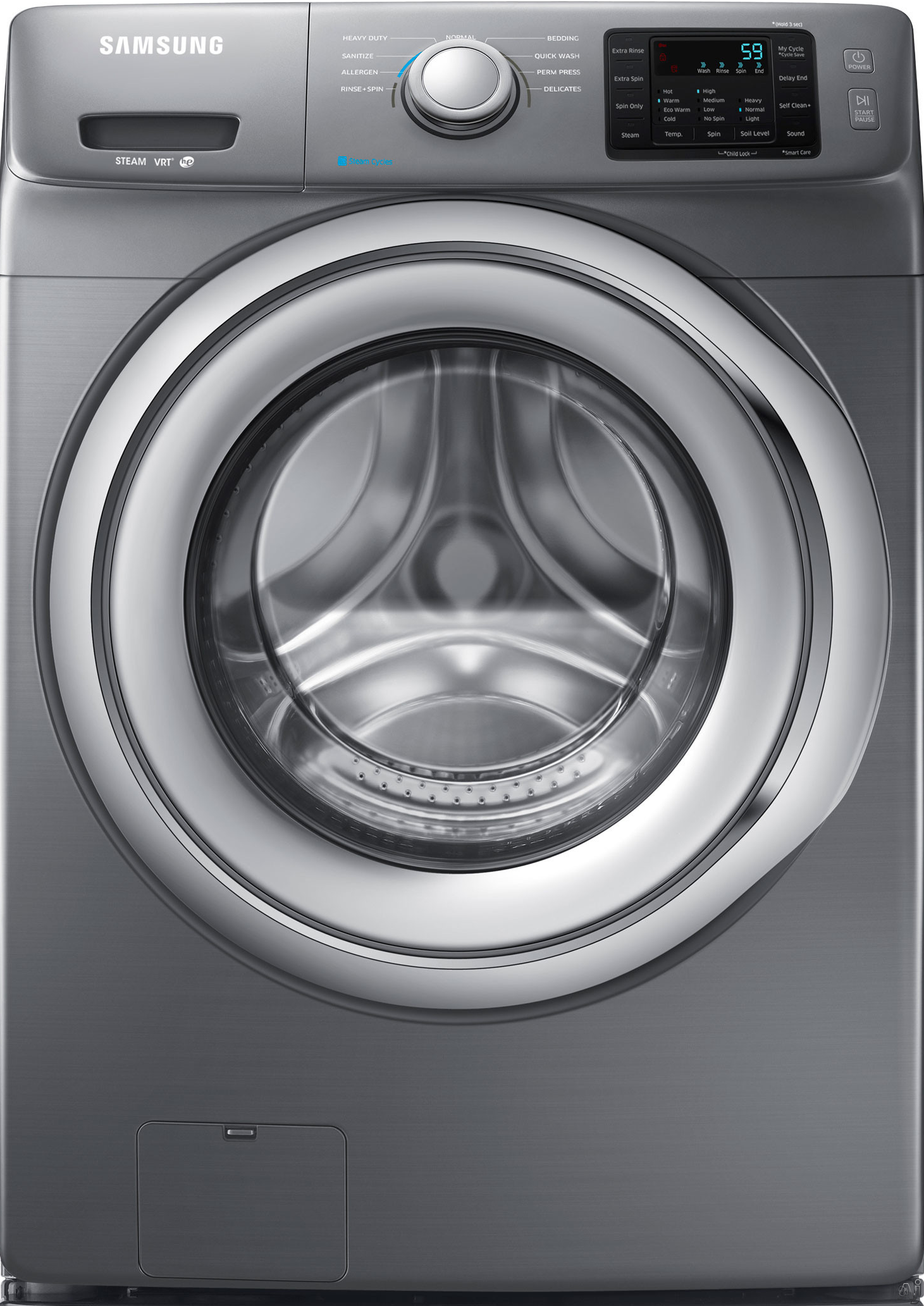 Samsung WF42H5200AP 4.2 cu. ft. Front-Load Washer w/ Steam Washing - Stainless Platinum, Silver 02646443000
