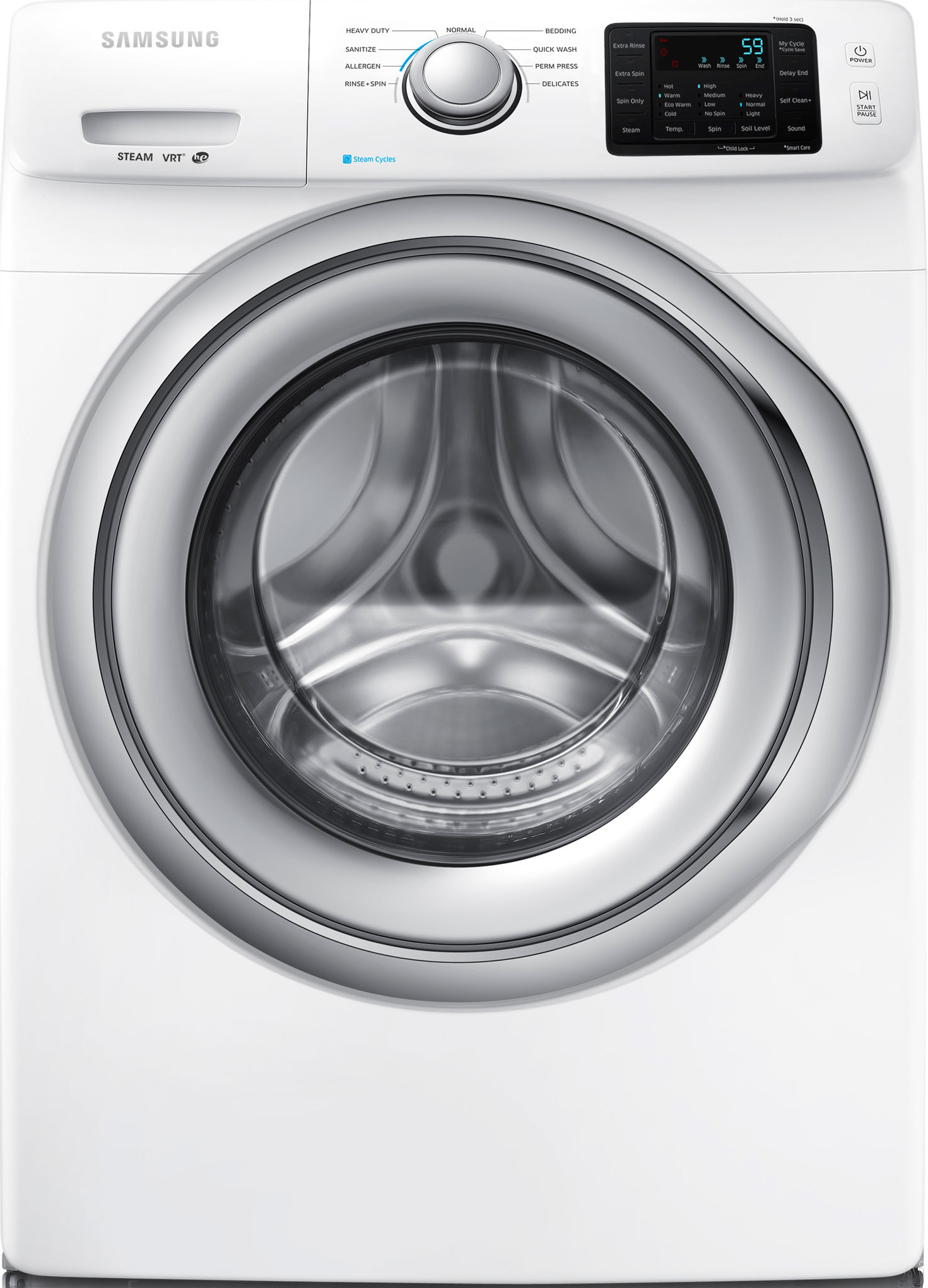 "Samsung WF42H5200AW 4.2 CuFt XL High Efficiency White 27"" Front Load Washer With"