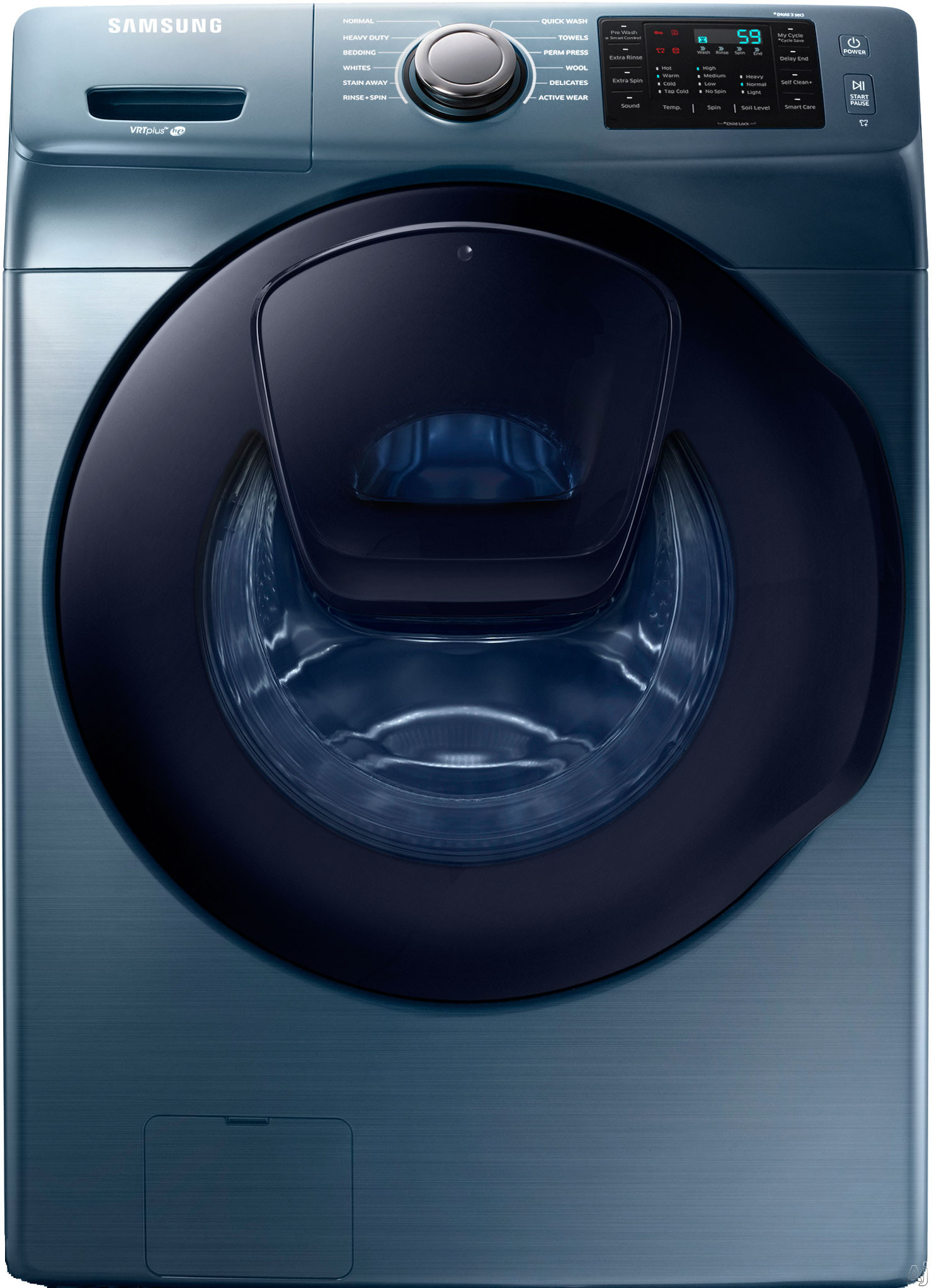 Samsung WF45K6200AZ 27 Inch 4.5 cu. ft. Front Load Washer with AddWash, 12 Preset Wash Cycles, 10 Wash Options, 1,300 RPM, Smart Care, Vibration Reduction Plus, Self Clean Plus and ENERGY STAR Certification: Azure WF45K6200AZ