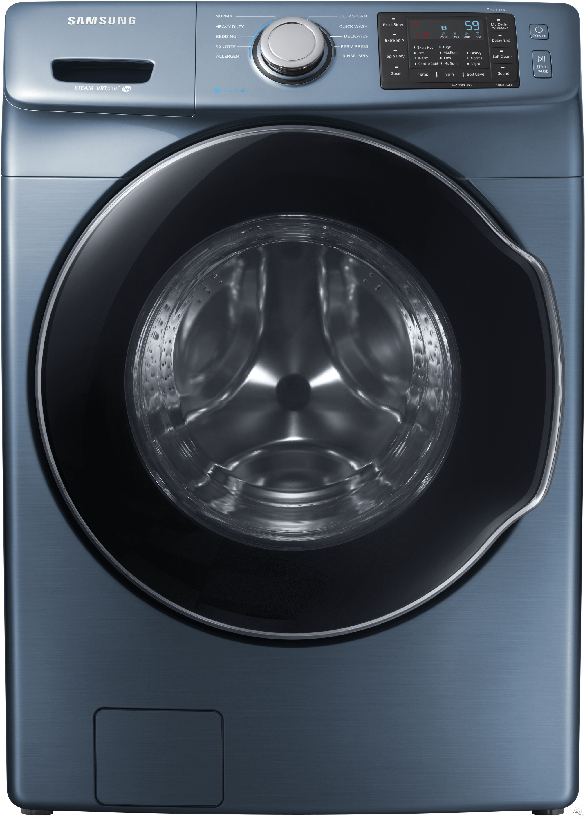 """WF45M5500AZ 27"""""""" Front-Load Washer With 4.5 cu. ft. Capacity DOE  Steam Wash  VRT Plus Technology  Steam Wash  Self Clean  Smart Care  Child Lock  Delay End  in"""" 744715"""