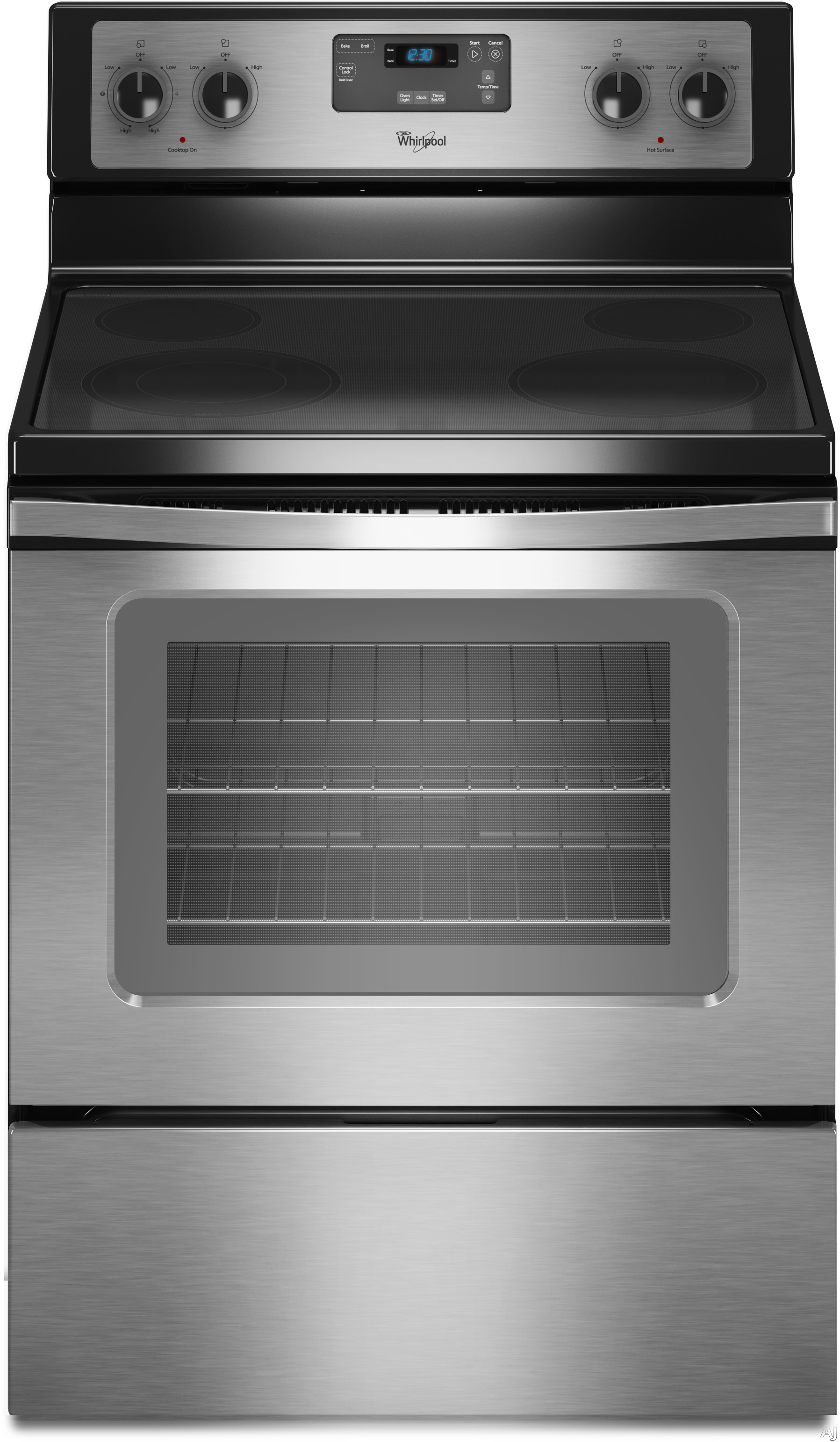 Whirlpool Wfe320m0es 30 Quot Freestanding Electric Range With