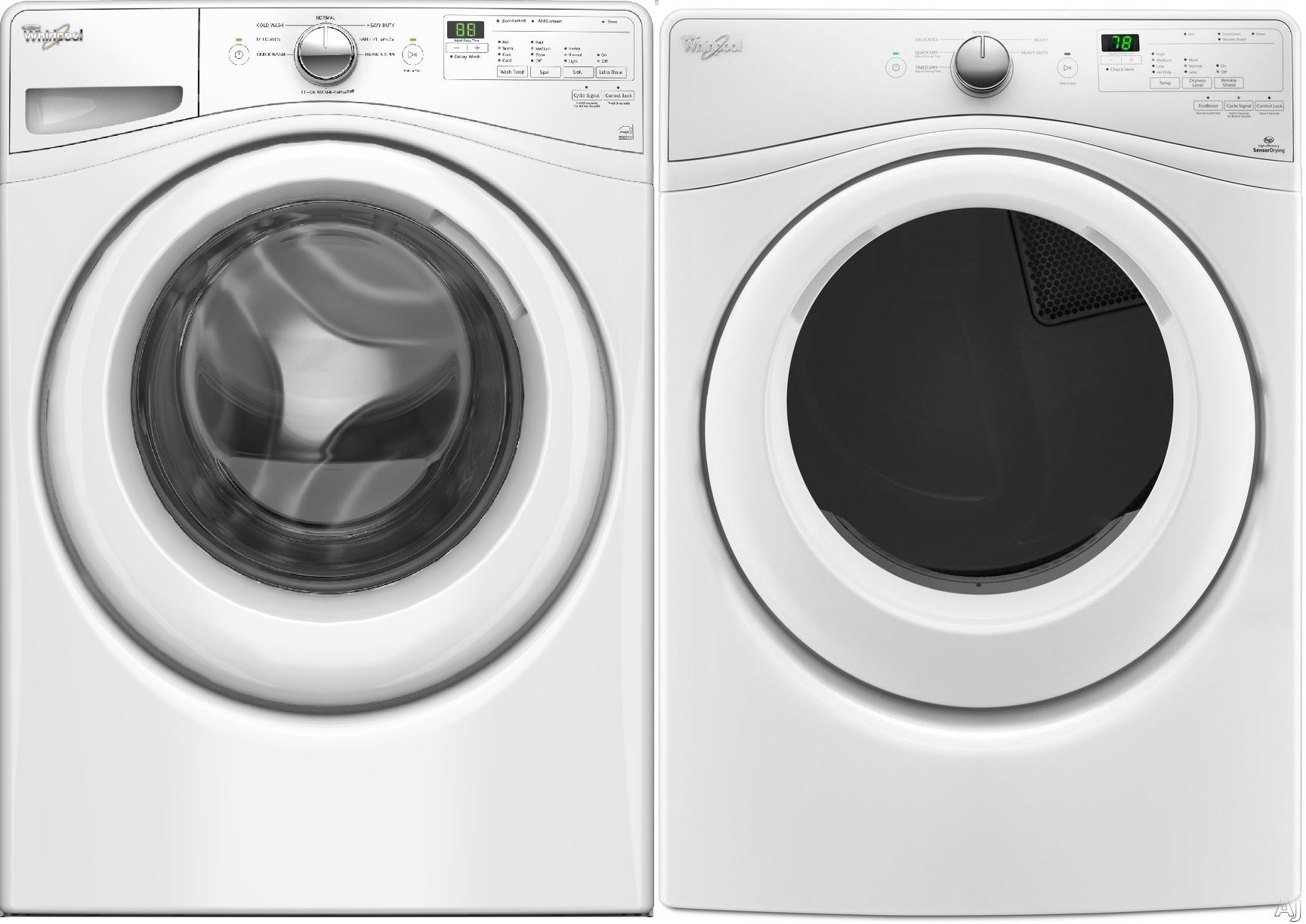 Whirlpool whi75fl whirlpool 75 series front load washer dryer pair - Whirlpool duet washer and dryer ...