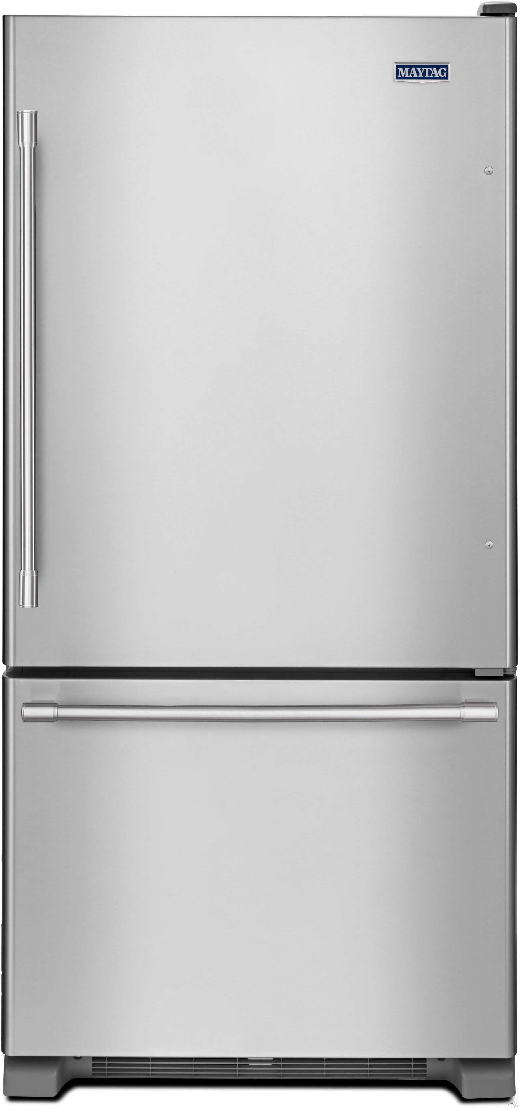 Maytag MBF1958FE 30 Inch Bottom-Freezer Refrigerator with 19.0 cu. ft. Capacity, Adjustable Spill Proof Glass Shelving, Gallon Door Storage, 2 FreshLock Crisper Drawers, Deli Drawer, BrightSeries LED Lighting and ENERGY STAR