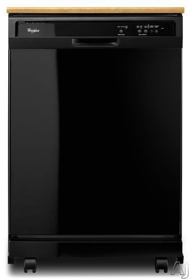 Whirlpool WDP340PAF 24 Inch Full Console Portable Dishwasher with 12 Place Setting Capacity, 1-Hour Wash, Heavy Cycle, Hi Temp Wash, Delay Wash, Large Silverware Basket, Removable Filter, Cycle Memory, Optional Heated Dry and Star-K Certified