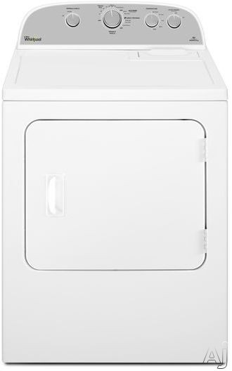 Image of Whirlpool WGD4985EW 5.9 cu. ft. Gas Dryer with 12 Dry Cycles, 5 Temperature Selections, Wrinkle Shield, Jeans Cycle and Powder Coat Drum