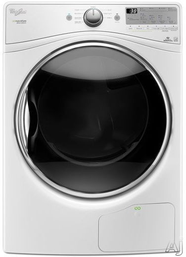 "Whirlpool Duet WED9290F 27 Inch 7.4 cu. ft. Ventless Electric Dryer with Wrinkle Shieldâ""¢, Quad Baffles, HybridCareâ""¢ True Ventless Technology, Advanced Moisture Sensing, 8 Dry Cycles, 4 Temperature Selections, 7.4 cu. ft. Capacity, ADA Compliant and EN"