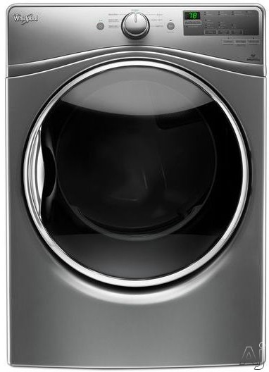 Whirlpool WED85HEF 27 Inch 7.4 cu. ft. Electric Dryer with Steam, Sensor Dry, EcoBoost, Quick Dry, Sanitize Cycle, Wrinkle Shield, Quad Baffles, 8 Dry Cycles Undercounter Installable, ADA Compliant and Energy Star Rated