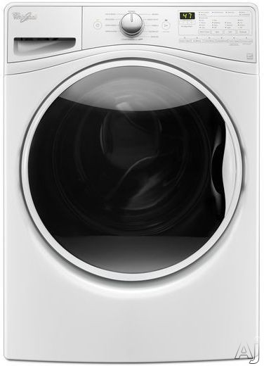 Whirlpool WFW85HEFW 27 Inch Front Load Washer with Steam, TumbleFresh™ Option, ColorLast™ Option, Adaptive Wash Technology, Presoak Option, EcoBoost™, Add-a-Garment, 4.5 cu. ft. Capacity, 1,200 RPM, Undercounter Installable and ENERGY STAR®: White