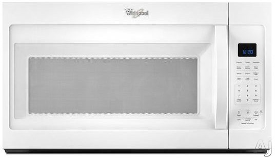 Whirlpool WMH32519FW 1.9 cu. ft. Over-the-Range Microwave with Sensor Cooking, 300 Fan CFM, 1,000 Watts, Add 30 Seconds Button and CleanRelease Non-Stick Interior: White