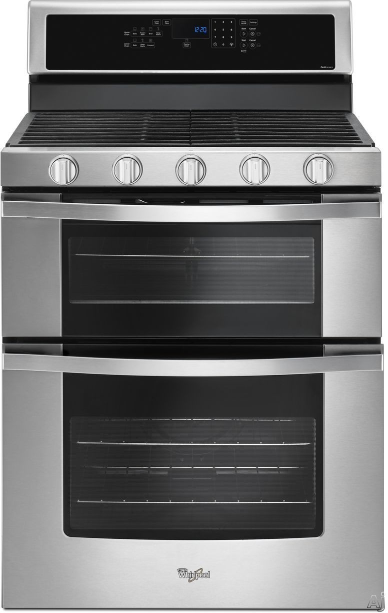Whirlpool WGG745S0F 30 Inch Freestanding Gas Range with 5 Sealed Burners, Dual Ovens, 6 cu. ft. Capacity, Frozen Bake Technology, True Convection, Convection Conversion, Temperature Sensor, SteamClean Oven, Sabbath Mode and ADA Compliant