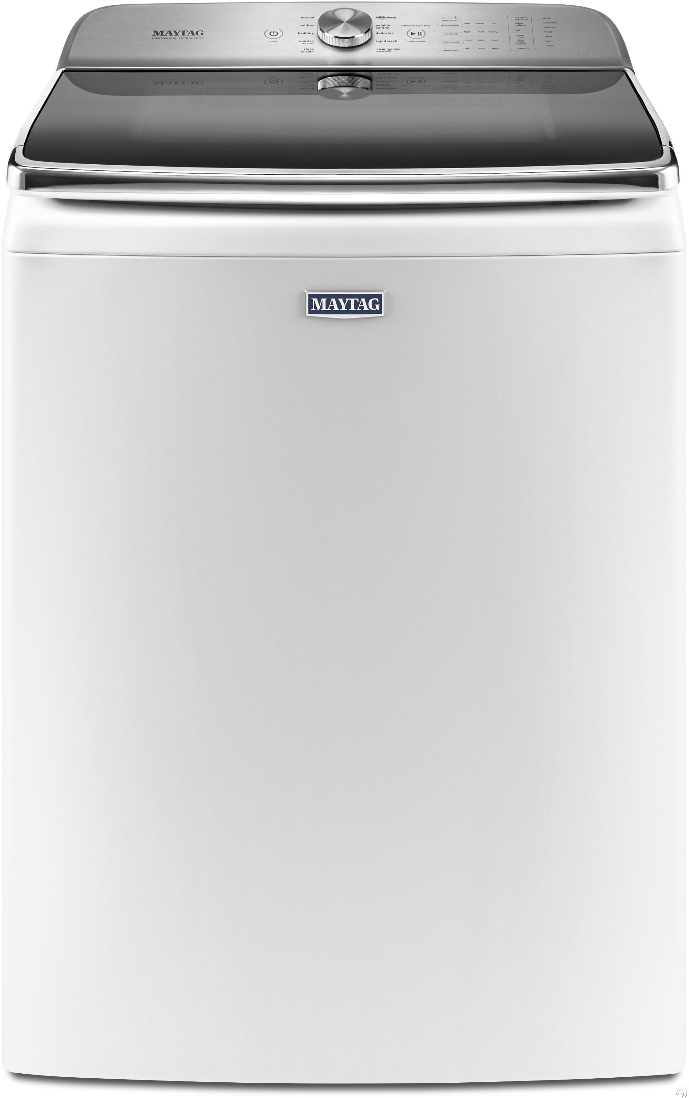 Maytag MVWB955F 30 Inch Top Load Washer with 6.2 cu. ft. Capacity, 10 Wash Cycle Selections, PowerWash Cycle, Power Impeller, Deep Fill Option, Internal Heater, Wrinkle Control and ENERGY STAR Certified