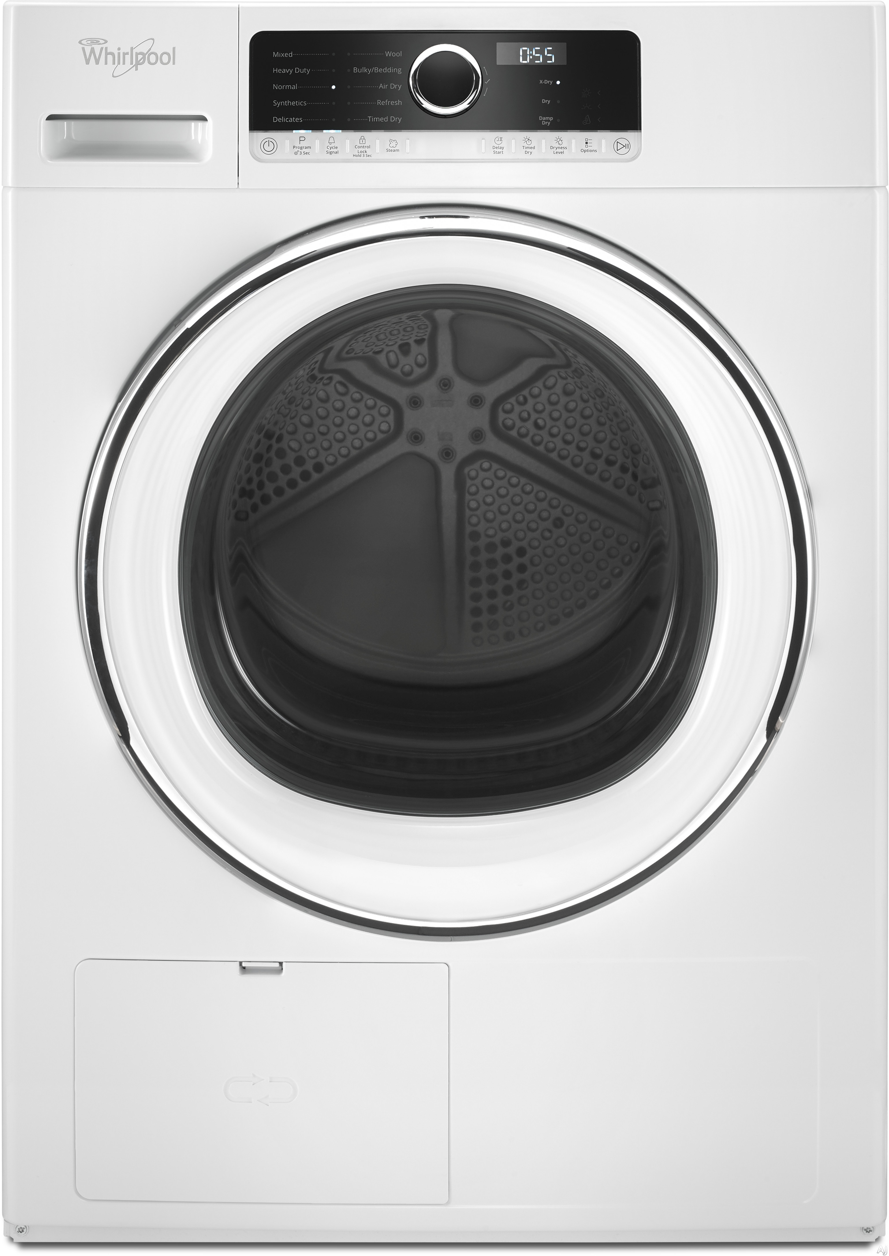 Whirlpool WHD5090GW 24 Inch 4.3 cu. ft. True Ventless Heat Pump Compact Dryer with Wrinkle Shield, Refresh Cycle, ENERGY STAR, Bulky Bedding Cycle, Air Dry Cycle, Wool Cycle, Gentle Dry, Quick X-Dry Cycle and Stackable Design
