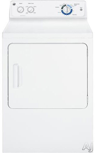 """GE GTDX180GDWW 27"""" Gas Dryer with 6.0 cu.ft. Capacity, 6 Cycles, 4 Heat Selections, DuraDrum, U.S. & Canada GTDX180GDWW"""