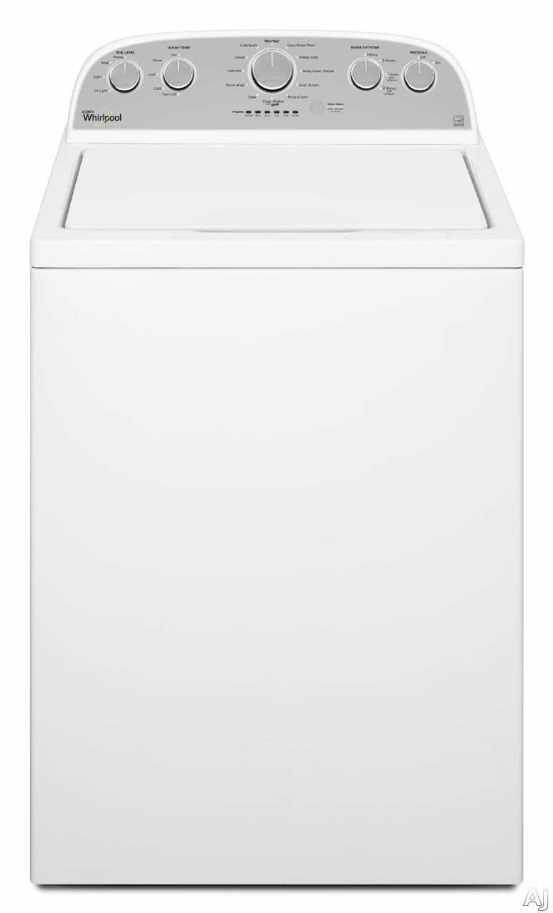 Whirlpool WTW5000DW 28 Inch Top Load Washer with Presoak Option, Quick Wash, Load Sensing, 4.3 cu. ft. Capacity, 12 Cycles, 600 RPM, Deep Water Wash Cycle, Vibration Control, Smooth Wave Stainless Steel Wash Basket and Clean Washer Cycle w/ Affresh WTW50