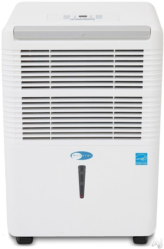 Whynter RPD621EW 60 Pint Portable Low Temperature Dehumidifier with 188 CFM Air Flow, 3 Operational Modes, 2 Fan Speed, Auto Defrost, Non-Ozone Depleting R410a Refrigerant, Handles and Casters, 2-in-1 Filter and Timer RPD621EW