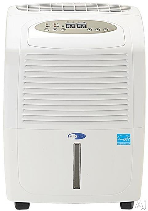 Whynter RPD302W 30 Pint Portable Dehumidifier with 110 CFM Airflow, 12 Pint Removable Water Bucket, Auto Restart, Auto Shutoff, Dual Fan Speeds, Washable Pre-Filter, Direct Drain Option, Auto Defrost and ENERGY STAR Rated