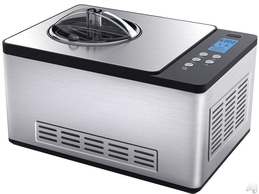 Whynter ICM200LS Ice Cream Maker with 2 Liter Capacity LCD Controls Electronic Timer and Motor Protection Function No Pre Freezing Required
