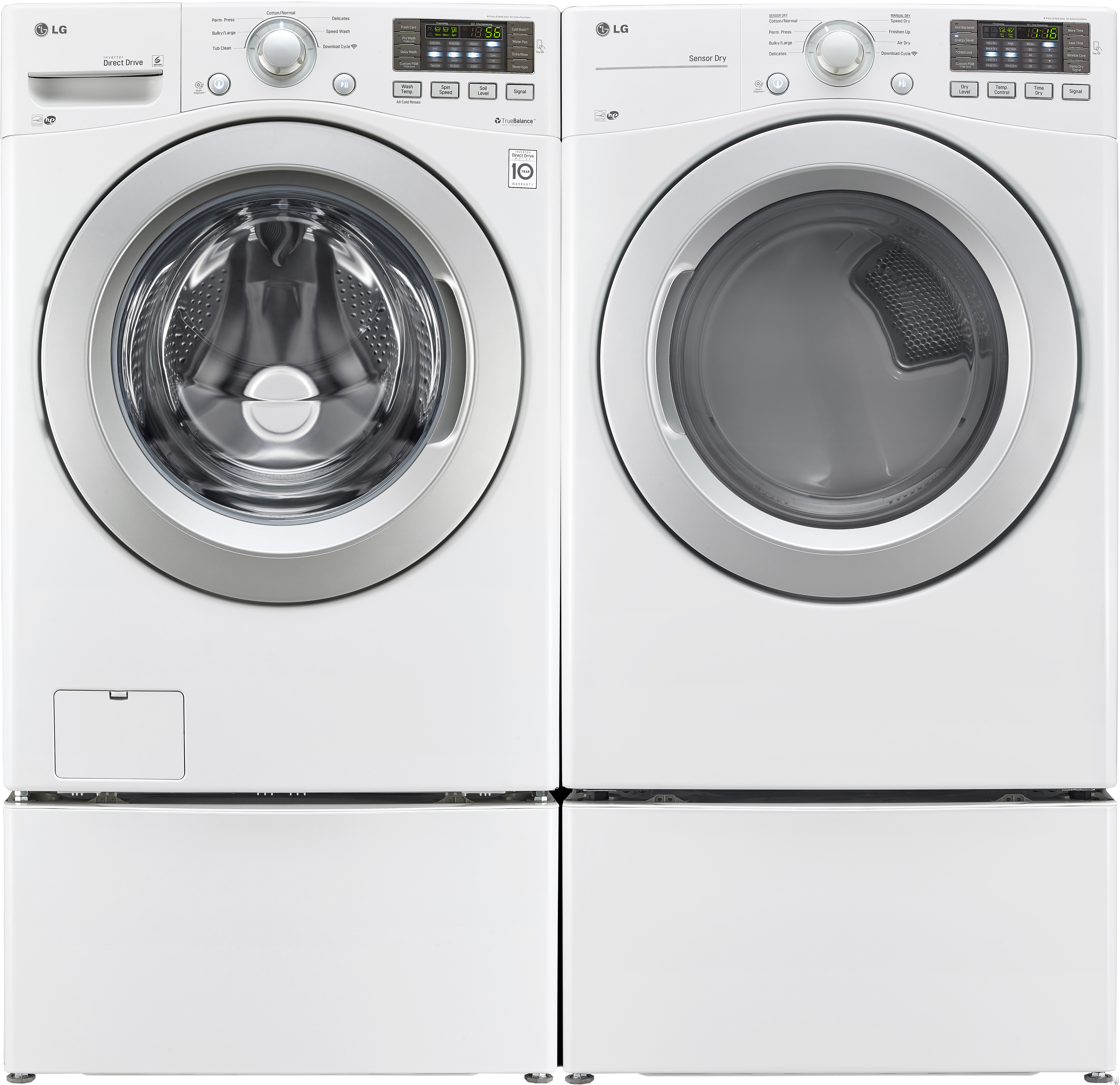 "LG WM3170CW 27"" Front Load Washer With 4.3 Cu. Ft"