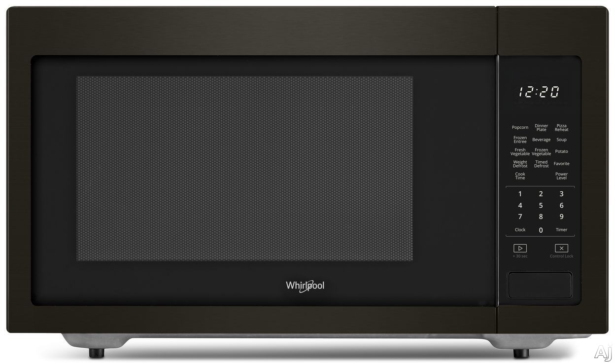 Whirlpool WMC30516HV 1.6 cu. ft. Countertop Microwave with Sensor Cook, Microwave Presets, Defrost, Control Lock, 1,200 Watts of Power and Dishwasher-Safe Turntable Plate: Black Stainless Steel