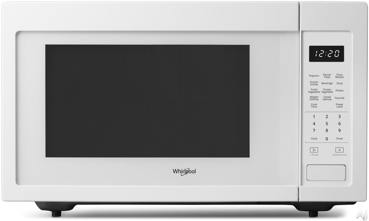 Whirlpool WMC30516HW 1.6 cu. ft. Countertop Microwave with Sensor Cook, Microwave Presets, Defrost, Control Lock, 1,200 Watts of Power and Dishwasher-Safe Turntable Plate: White