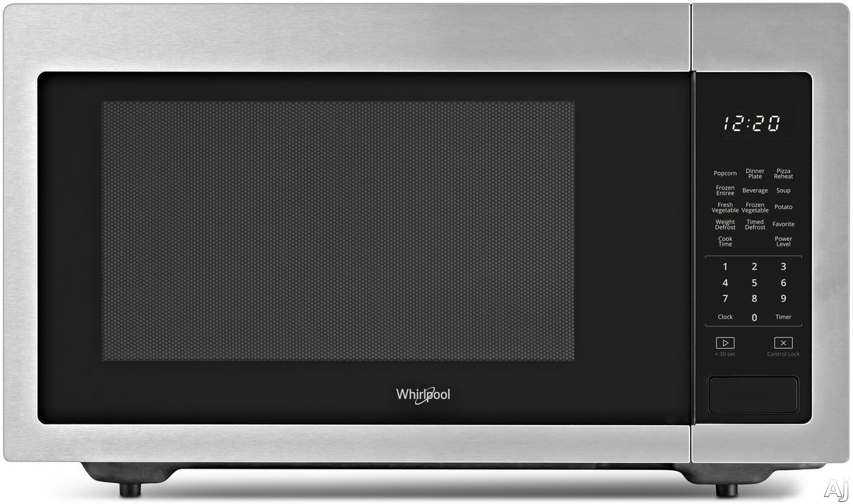 Whirlpool WMC30516HZ 1.6 cu. ft. Countertop Microwave with Sensor Cook, Microwave Presets, Defrost, Control Lock, 1,200 Watts of Power and Dishwasher-Safe Turntable Plate: Fingerprint Resistant Stainl